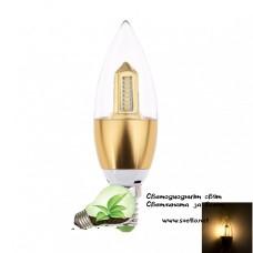 LED Крушка 4W Свещ E14 5730 Топло Бяла Стълб Злато