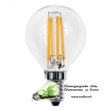 LED Крушка FILAMENT 4W 220V E14 G45 2700K Топло Бяла