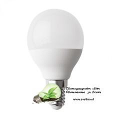 LED Крушка Plastic 7W 220V E14 P45 Матирана Топче CW 6500K Студено Бяла