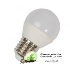 LED Крушка 5W Е27 Топло Бяла