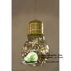 LED Пендел BULB II 5W +2.7W 3000K Ф150mm Стъкло