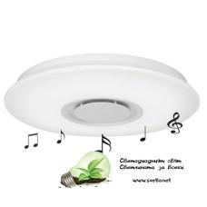 LED Музикален плафон 24W 4000K Ф400 Bluetooth Plastic