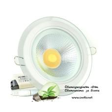 LED Луна за Вграждане 10W 220V AC Колдун Студено - Неутрално - Топло Бяла