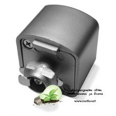Адаптор за Монофазна Шина за LED Прожектор 3PINS - Черен