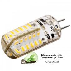 LED Ампула G4 12V DC 3W Топло Бяла