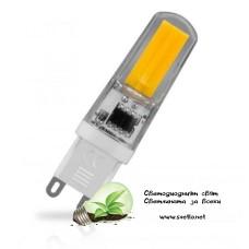 LED Ампула COB G9 220V AC 5W Топло Бяла