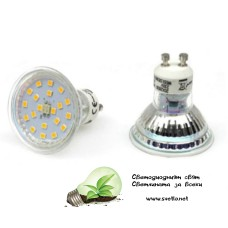 LED Спот за Луна GU10 220V AC 3W Топло Бял