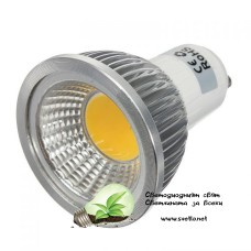 LED Спот за Луна GU10 220V AC 3W COB Топло Бял