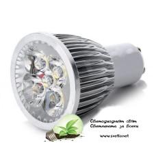 LED Спот за Луна GU10 220V AC 5x1W Топло Бял