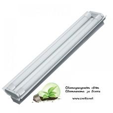 Тяло Шина Двойно за 2х120cm LED Пури 18W