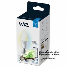 WIZ Wi-Fi LED лампа 4.9W C37 E14 470lm 2700K-6500K 15000h