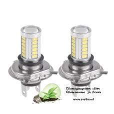 LED Крушки H4 24V с 33 Броя Диоди 1000lm