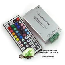 Контролер за RGB Лента 144W  IR с Дистанционно Управление с 44 Бутона