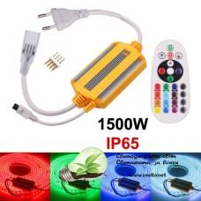 Контролер за LED Лента 220V RGB IP65 24 бутона IR 1500W