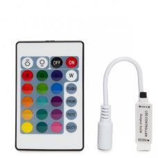 Контролер за RGB Лента 72W 24 бутона IR Мини Вграден Датчик