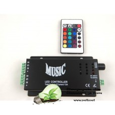 Музикален LED Контролер за RGB Лента със Звуков Контрол до 144W