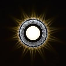 Гривна за Луна СТАЦИОНАРНА КРЪГЛА СТЪКЛО ПРОЗРАЧНО С LED ЛЕНТА 3W 4000K LS500161 Ф100MM MR16