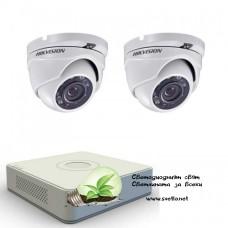 Full HD комплект за наблюдение Hikvision с 2 камери, DVR