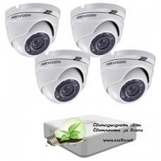 Full HD комплект за видеонаблюдение с 4 камери Hikvision