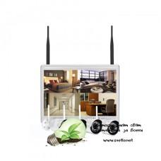 WI-FI комплект за видеонаблюдение VandSec с 4 камери, NVR с монитор VK-N8104W20-W