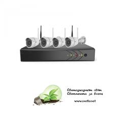 WI-FI комплект за видеонаблюдение VandSec с 4 камери, NVR VK-N204W20-W