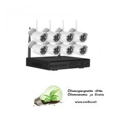 WI-FI комплект за видеонаблюдение VandSec с 8 камери, NVR VK-N4108W20-W