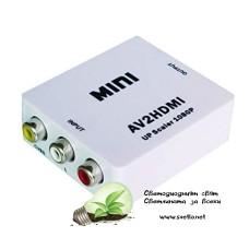 Конвертор AV (3RCA-чинчове) към HDMI